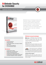 Bitdefender Security for Exchange, 500-999 users, 2 Years AL1231200F-EN Leaflet