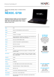 Nexoc G730 4050989171037 Leaflet