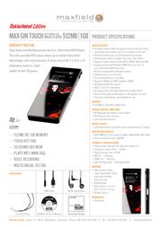 Maxfield Max-sin Touch Tokio Hotel 1Gb 101930 Leaflet