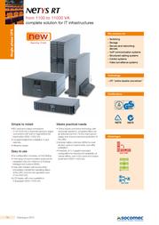 Socomec NETYS RT 5000VA NRT-5000K User Manual