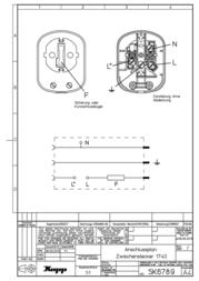 Kopp Power plugUniversal adapter plug White 1704001007 Data Sheet