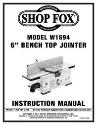 Woodstock W1694 User Manual