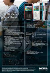 Tele2 Nokia X2-01 8716406019608 Data Sheet