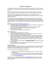 Pantone Printer Accessories User Manual