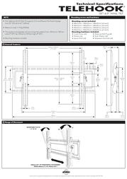 """Atdec TELEHOOK 32-63"""" Wall Tilt TH-32-63-UTB Leaflet"""