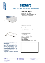 Safeware 44445W Leaflet
