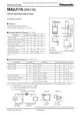 Panasonic MA2J116 (MA116) User Manual