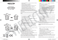 Thomar THERMOMETER MIT SAUGNAPF 51487 Data Sheet