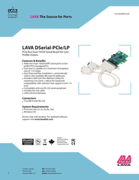 Lava DSerial-PCIe/LP DSERIAL-PCIELP Leaflet