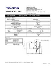 Tokina TVR0616DC Leaflet
