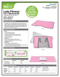 dreamGEAR 3-In-1 Lady Fitness Workout Kit DGWII-1150 Leaflet