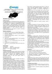 H Tronic AL600plus, 2-12V Lead Acid Battery Charger, 600mAh 2242217 Leaflet