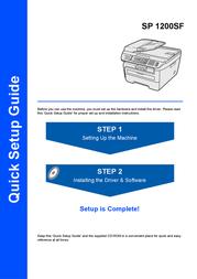 Scanport Ricoh SP 1200SF User Manual