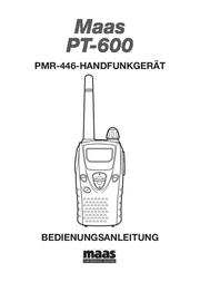 Maas Elektronik PMR-Funkgerät PT-600 N/A PMR Radio 2059 User Manual