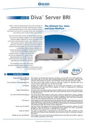 Dialogic Diva Server BRI-2M 306-216 Leaflet