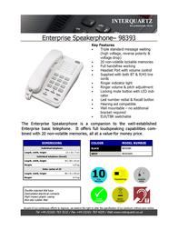 Interquartz 98393B4 Leaflet