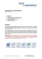 Coollaboratory Liquid MetalPad MPAD-1G User Manual