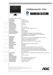 "AOC 22"" 212VA-1 Monitor 212VA-1 Leaflet"