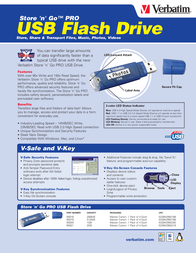 Verbatim Store 'n' Go PRO USB Flash Drive - 1GB 47154 Leaflet
