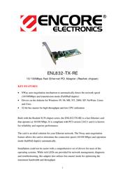 ENCORE ENL832-TX-RE Leaflet