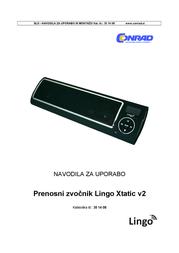Lingo Xtatic v2, black MP3 Player Speaker, Black AU-0013-BK User Manual