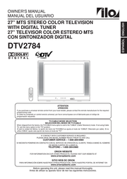 ILO CRT Television DTV2784 User Manual