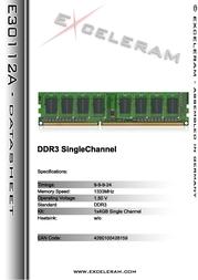Exceleram 4GB DDR3 PC3-10666 E30112A Leaflet
