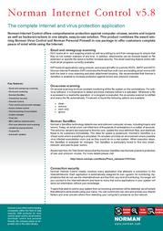 Norman Security Suite (AV/FW/Encr.) 10858 Leaflet