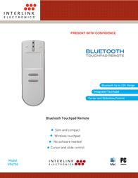 Interlink Bluetooth Touchpad VP4750 Leaflet