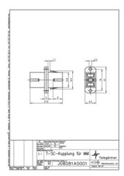Telegärtner T-SC Adaptor, Multimode J08081A0001 Leaflet