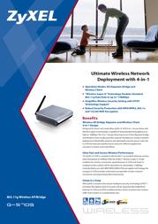 ZyXEL G-570S Wireless AP/Bridge 110201.570S Leaflet