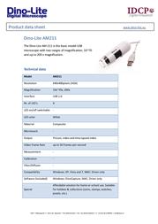 Dino-Lite AM211 Data Sheet