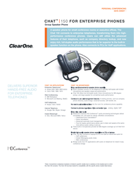 ClearOne Chat 150 Data Sheet