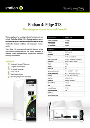 Endian 4i Edge 313 VPN Router Specification Guide
