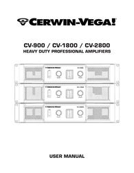 Cerwin-Vega CV-1800 Owner's Manual
