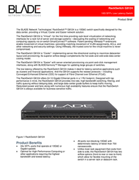 BLADE Network Technologies G8124 24-port 10GbE Switch with Front-to-Rear Airflow BN-8124F-BDL User Manual