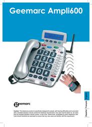 Sonic Alert Telephone AMPLI600 User Manual