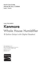 Kenmore 8-Gallon Evaporative Humidifier Owner's Manual