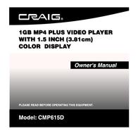 Craig CMP615D User Manual