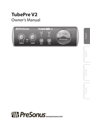 PreSonus TubePre v2 Owner's Manual