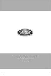 Nostalgia Electrics RETRO SERIES RKP630 User Manual