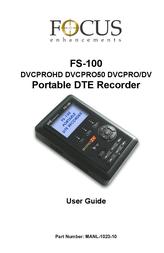 Focus Enhancements DVCPRO/DV User Manual