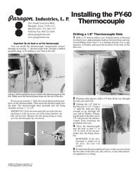 Paragon Thermocouple PY60 Leaflet