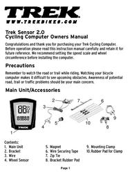 Trek Sensor 2.0 User Manual