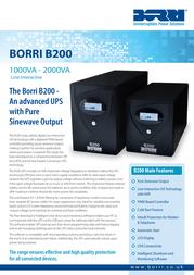 Borri B200 2kVA B200-1500 Leaflet