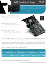 OCZ Storage Solutions RevoDrive 3 RVD3-FHPX4-480G User Manual