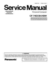 Matsushita CF-74ECBAXBM User Manual