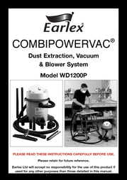 Earlex COMBIPOWERVAC WD1200P User Manual