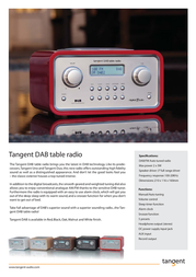 Tangent DAB Table Radio - Red DABROO Leaflet