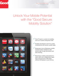 Good Technology Secure Mobility Solution, 2Y + Premium Support MBLTY.SOLN.SUB.USER.PREM.B2Y User Manual